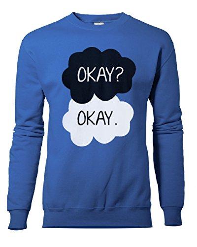 Unisexe OKAY OKAY. OK OK? Sweat-shirt unisexe nouveau S-XXL. Couleurs au choix Bleu