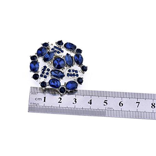 ElegantPark AM Damen Kristall Kleider Handtasche Hute Schuh Clips 2 Stücke Marineblau