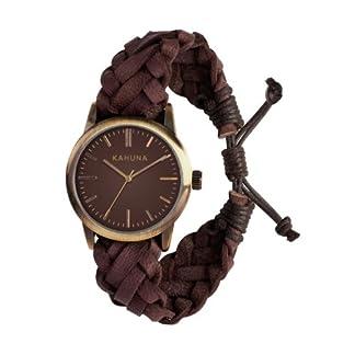 Kahuna KGF-0008G – Reloj analógico de Cuarzo para Hombre con Correa de Piel, Color marrón