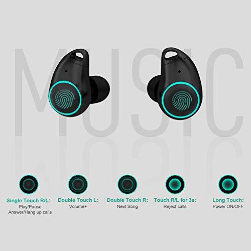 Arbily-Auricolari-Wireless-Cuffie-Bluetooth-50-Mini-Cuffie-in-Ear-con- Scatola-Ricarica-Auricolare-Stereo-Invisibile-Cancellazione-del-Rumore-Touch-Control-  ... 708a877638b1