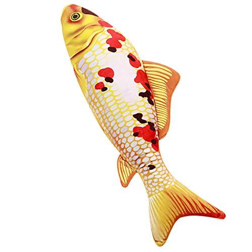 Fischsimulation Kissen Sofakissen Fisch Gefüllte Kissen, Kreative Simulation Koi Fisch Kissen Weiches Sofakissen(E) ()