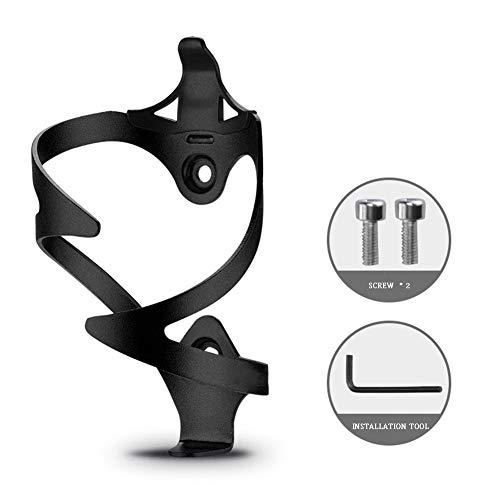 Kw-tool Verdickter Aluminium-Flaschenhalter, starker Fahrradträgerhalter, schnell und einfach zu montieren, für Road Bkie, Mountainbike, 33G,Black