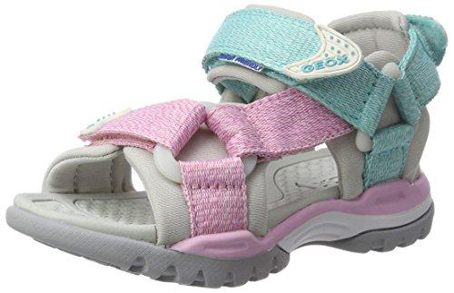Geox Mädchen J Borealis Girl A Offene Sandalen mit Keilabsatz, Pink (LT Pink/WATERSEAC8343), 28 EU