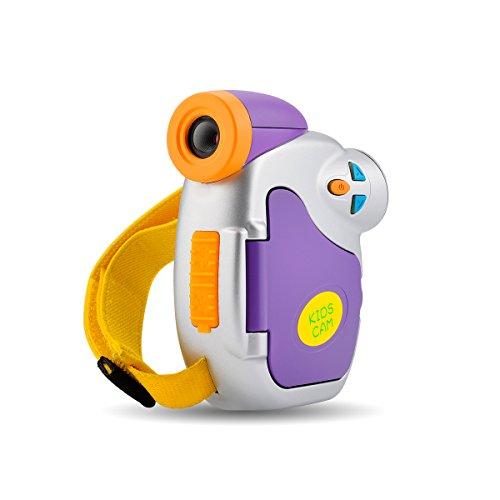Kinder Digital Kamera 1.5 Zoll Bildschirm 5 Megapixel Kidizoom Mini Action Camcorder Kompakt Kamera, Spielzeug und Geschenk für Kinder (Lila)