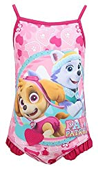 Girls Paw Patrol Puppy Dog Skye & Everest Swimming Costume sizes from 2 to 6 Years