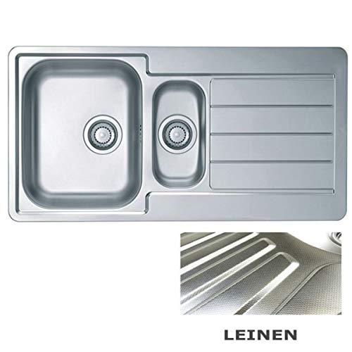 VBChome: Lavello da incasso 980 x 500 mm Camping Cucina – Struttura in lino Alveus Line 10 Lavello in acciaio inox Camping 1,5 vasca scarico