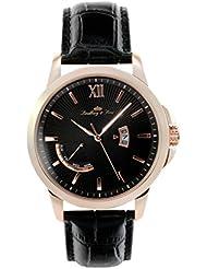 Lindberg & Sons eysse-reloj analógico de cuarzo de cuero LS15H5