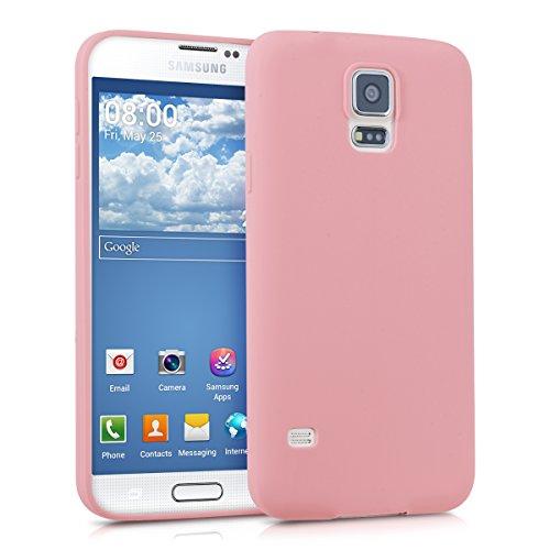 kwmobile Funda para Samsung Galaxy S5 / S5 Neo / S5 LTE+ / S5 Duos   Case para móvil en TPU silicona   Cover trasero en rosa palo mate