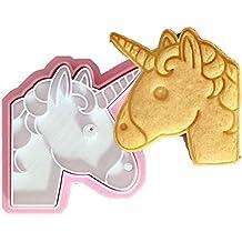 1 molde para hornear galletas con diseño de unicornio y emoji