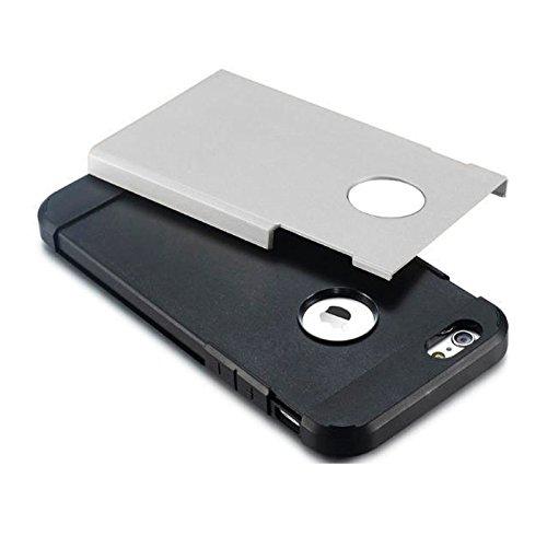 Für iPhone 6 / 6s, Hybrid PC + TPU Tough Armor Farbe Hard Case Cover DEXING ( Color : Orange ) Silver
