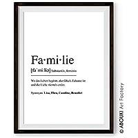 ABOUKI Definition FAMILIE - personalisierter Kunstdruck - ungerahmt - Geschenk-Idee
