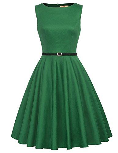 GRACE KARIN Blumen Kleid Rockabilly Damen gürtel Kleid festlich Petticoat Kleider M CL6086-62