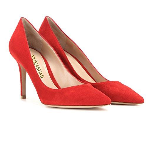 Ouvido Milímetros Faschion Vermelha Salto 85 Lingerie Deslizamento Padrão De Escritório Alto De Prom Em Edefs Sapatos Camurça Bombas Partido De x7AgXqwRw