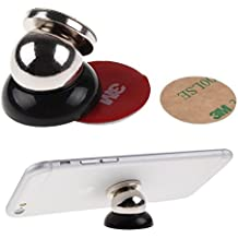 Magnetic Car Holder for SAMSUNG GALAXY Series: Galaxy Core Prime / Galaxy Discover S730M / Galaxy E5 / Galaxy E7 / Galaxy Exhibit T599 / Galaxy Express 2 / Galaxy Express I437 / Galaxy Express I8730 / Galaxy Fame Lite Duos S6792L   Mobile Cell Phone Smartphone   Universal 360 Degree Dash Mount by Keple (Black )