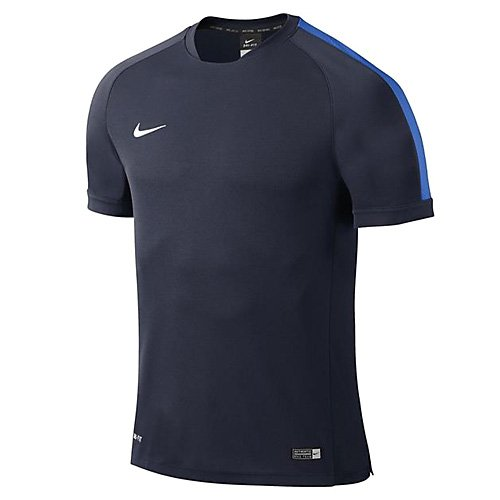 Nike T-shirt Flash Squad 15 Kinder Kurzarm Fußball Trainingshirt Dunkelblau/Blau XS