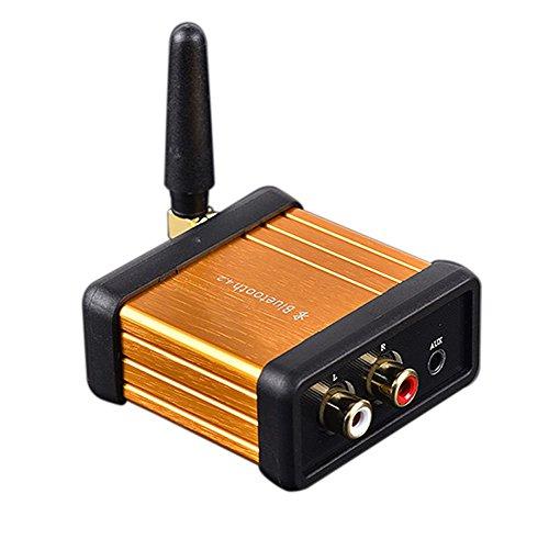 WINGONEER Bluetooth Receptor audio sin hilos de Bluetooth V4.2 CSR64215 Soporte APTX para fluir de la música Sistema de sonido funciona con teléfonos inteligentes y las tabletas