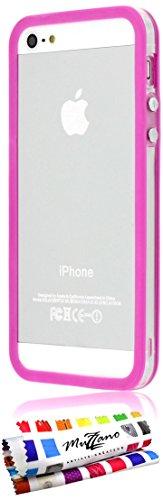 """Coque Semi-Rigide Ultra-Slim APPLE IPHONE 5S / IPHONE SE [La Sport Case Premium] [Rose] de MUZZANO + 3 Films de protection écran """"UltraClear"""" + STYLET et CHIFFON MUZZANO® OFFERTS - La Protection Antic Fuchsia"""