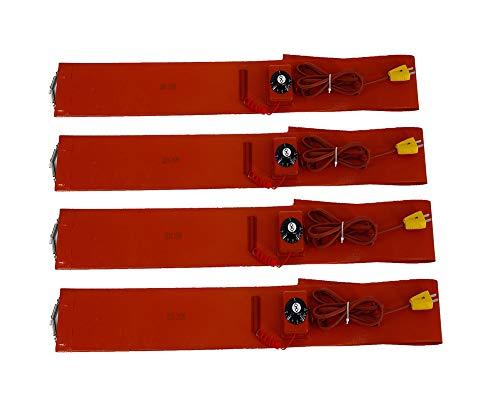 YXS Einstellbare Höhe Heizung Thermostat, Standard Heavy Duty Poly Drum Heater, Geeignet für, Plastikeimer, Metall Eimer, Honig Eimer, Farbeimer, 5in Breite, Länge 68in -4 Stück,110V -