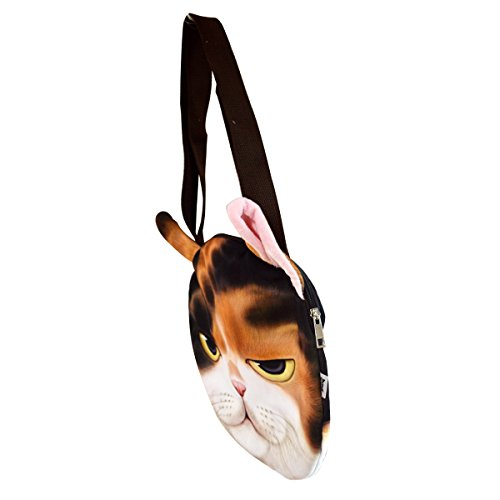 moda donna AiSi faccia White con da alla shopping cat Bianco cat borsa prodotto per Purple kb 27 a gatto tracolla White di xYOqBwY8