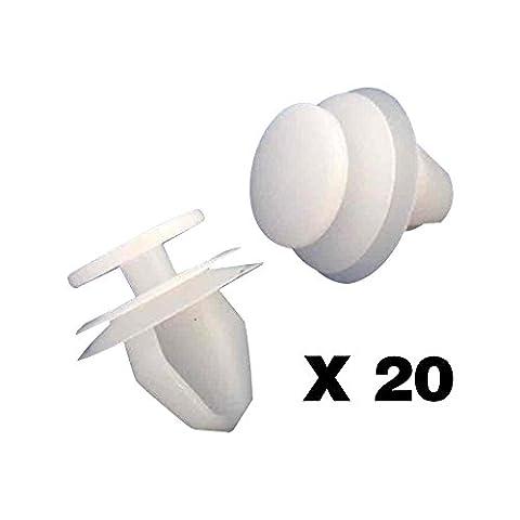 Tuqiang®20x Peugeot (1007, 206, 307, 607, 807) / Citroen (Berlingo, C3, C4, C5, C8, Xsara, Picasso) Befestigung Türverkleidung Clips /Plastic Screw/ Klips - 6991S6 / 6991.S6 - KOSTENLOSER VERSAND