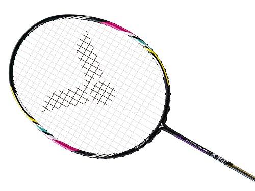 VICTOR Abgespannt graphit Badminton Carbon Graphit Faser-Racket mit Bezug Jet Speed Extreme Force (Handgelenk Band & Head Band kostenlos) HYPERNANO X 800 Graphite : 4U -