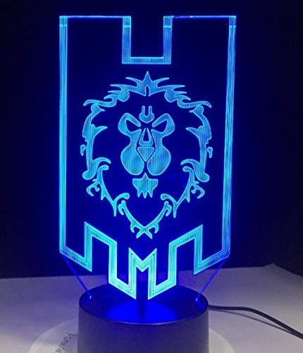Décorative World Lampe Tactile Of Gybyb De 3d Led Signs Distance Commande Alliance The Usb Warcraft Tribal Avec Table À SUGjLVzpqM