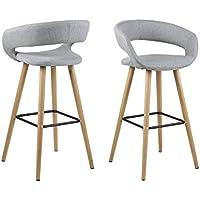 AC Design Furniture Jack-Sgabello in tessuto, con struttura in legno, colore: grigio - Arredamento - Confronta prezzi