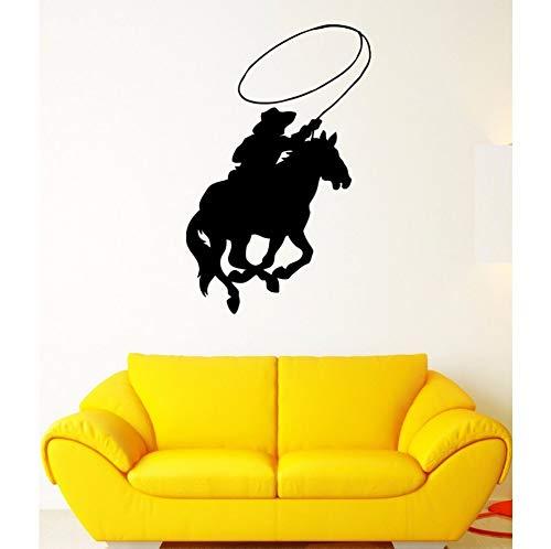 r Reiten Aufkleber Poster Vinyl Kunst Wandtattoos Aufkleber Malerei Wand Dekor Wandbild Cowboy Aufkleber58X89Cm ()