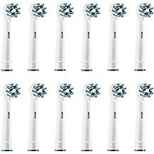 12 cabezales de cepillo Oral B Cross Acción Compatible de repuesto para cepillos eléctricos Oral-B