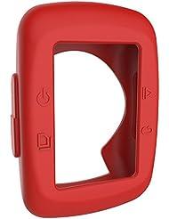 Ciclismo ordenador caucho a prueba de golpes cubierta de la caja protectora de silicona para Garmin Edge 200/500GPS Ciclismo accesorios de computadora, 0.02 pounds, color rojo