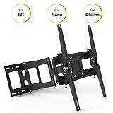 TV Wandhalterung kompatibel für Sony, LG, Philips, Panasonic Fernseher 65 I 60 I 58 I 55 I 52 I 50 I 49 I 43 I 40 I 37 Zoll mit VESA 100x100-400x400 I Bildschirmgrößen 81-165cm
