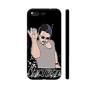 Colorpur Saltbae On Black Artwork On Google Pixel Cover (Designer Mobile Back Case) | Artist: Comic Fries