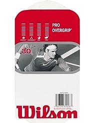 Wilson Z4742 WHI Overgrip Pro - Lote de bandas antideslizantes para raquetas de tenis (30 unidades), color blanco