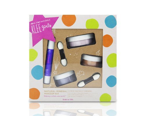 KLEE Girls Natural Mineral Makeup (4 Pc Kit) - Glorious Afternoon by Luna Star (Make Kits Für Up Kids)