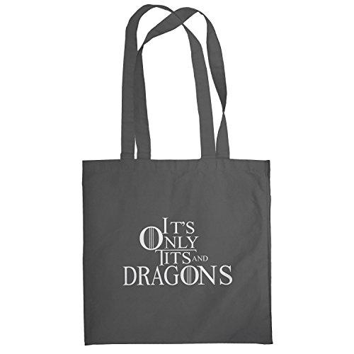 Texlab–Tits and Dragons–sacchetto di stoffa Grau