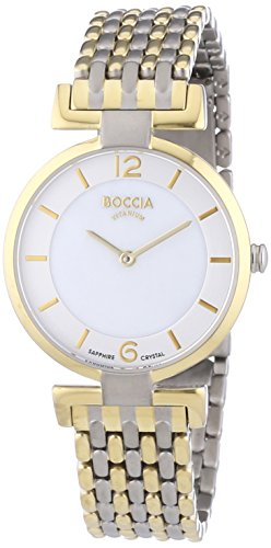 Boccia Women's Quartz Watch with Mother of Pearl Dial Analogue Display and Gold Titanium Bracelet B3238-04