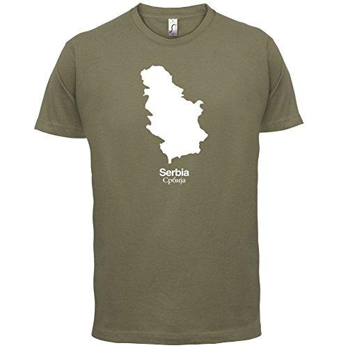 Serbia / Serbien Silhouette - Herren T-Shirt - 13 Farben Khaki