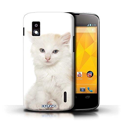 Kobalt® Imprimé Etui / Coque pour LG Nexus 4/E960 / Sibérien conception / Série Espèces de chats Kurillian