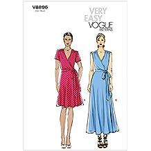 Vogue V8896 - Patrones de Costura para Vestidos de Mujer (2 Modelos)