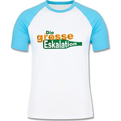 Festival - Die große Eskalation - zweifarbiges Baseballshirt für Männer Weiß/Türkis