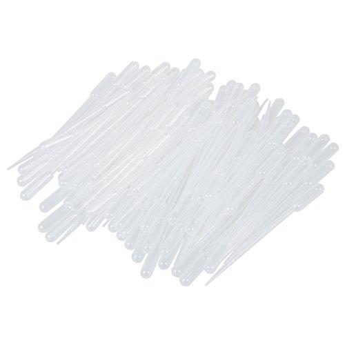 SODIAL(R) 100 pz Laureato Pipette contagocce in polietilene (5 ml)