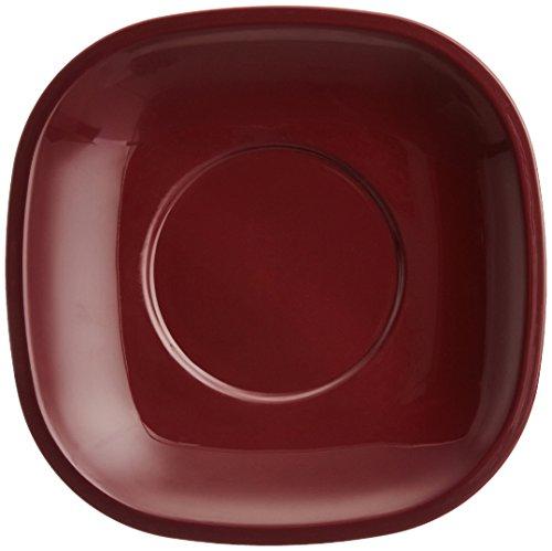 Signoraware Quarter/Snack Plate Set, Set of 6, Maroon