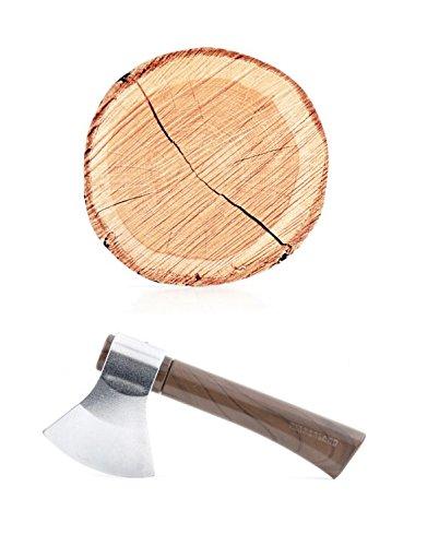 Kikkerland mu-Jian hacha pluma y tronco de árbol Notepad