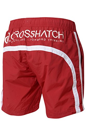Crosshatch Herren Badeshort Barbados Cherry - Red