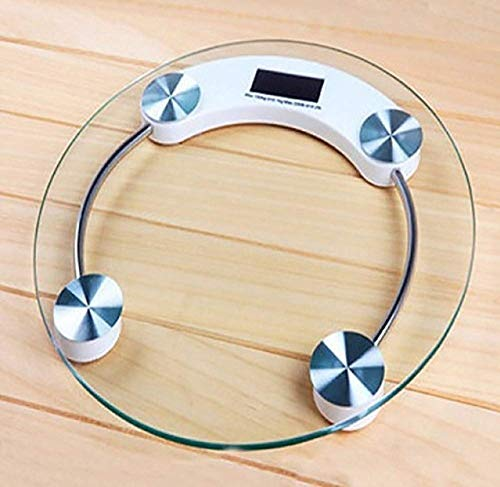 Shree Krishna Electronic 8 mm Thick Tempered Glass and LCD Display Digital Personal Bathroom Health Body Weight Weighing Scale