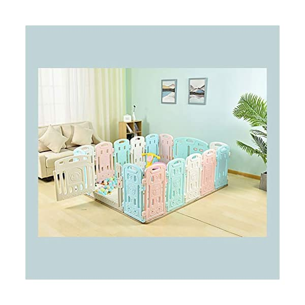 Baby Playpen HUYP Baby Fence Panels Baby Guard Fence Children's Foldable Playpen With Door Pet Fence (Size : 12 small pieces) Baby Playpen  5