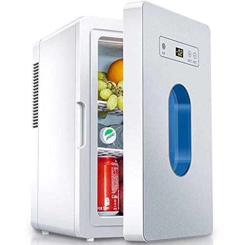 Mini-kühlschrank, Tragbar Kühlschrank Innen/Außen Kühlung Heizung 10L Klein Kühlschrank Geeignet für Auto Schlafsaal Reisen Büro-Weiß/Grau