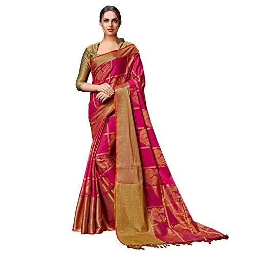 SP AURA Women's Cotton Saree (Rosy Pink)