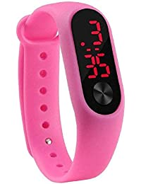Swadesi Stuff Silicone LED Digital Good Looking Kids Watch for Boys & Girls(Pink Color)