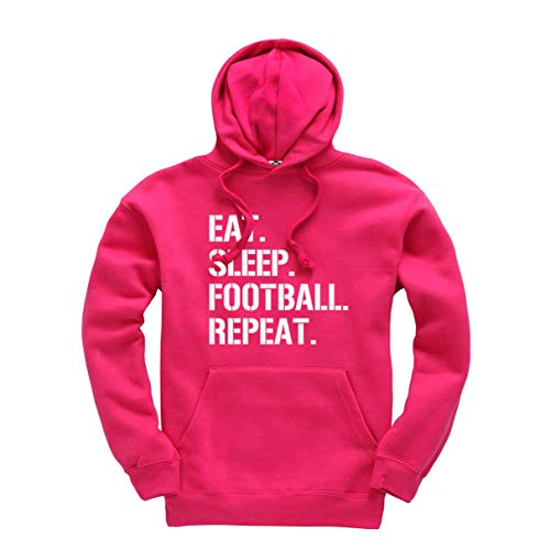 Eat Sleep Football Repeat Funny Unisex Kids Adults Hoodie Jumper Sport